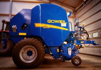De G1-F125 ronde balenpers van Goweil